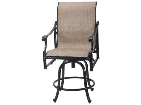 GenSun Michigan Sling Cast Aluminum Swivel Balcony Stool
