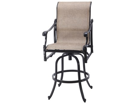 Gensun Michigan Sling Cast Aluminum Swivel Bar Stool