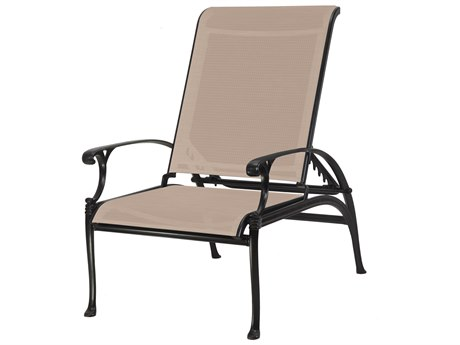 Gensun Michigan Sling Cast Aluminum Reclining Chair