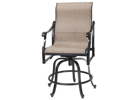 GenSun Michigan Sling Cast Aluminum Swivel Rocking Balcony Stool