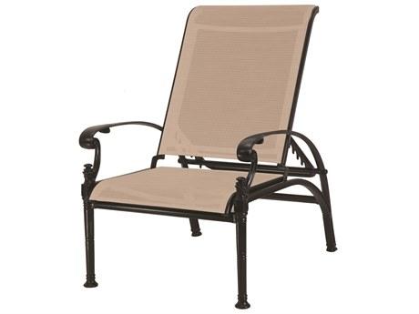 GenSun Florence Sling Cast Aluminum Reclining Chair