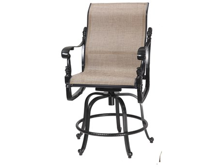 GenSun Florence Sling Cast Aluminum Swivel Rocking Balcony Stool