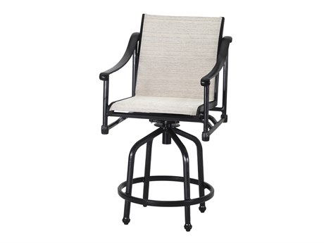 Gensun Morro Bay Sling Cast Aluminum Bar Stool