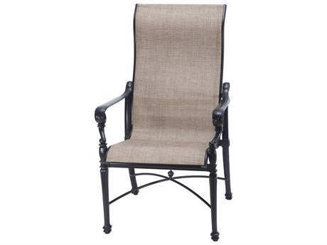 GenSun Grand Terrace Sling Cast Aluminum High Back Dining Chair