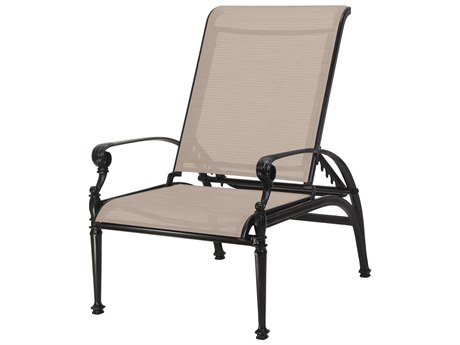 Gensun Grand Terrace Sling Cast Aluminum Reclining Chair