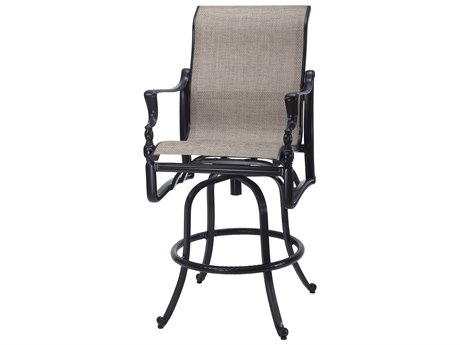 Gensun Bel Air Sling Cast Aluminum Swivel Bar Stool