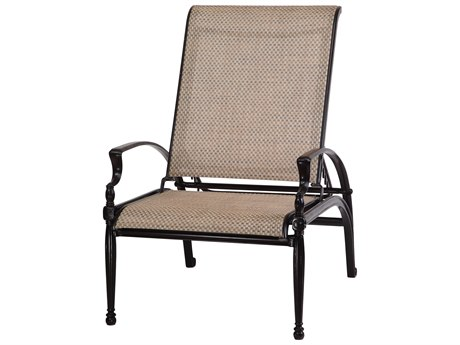Gensun Bel Air Sling Cast Aluminum Reclining Chair