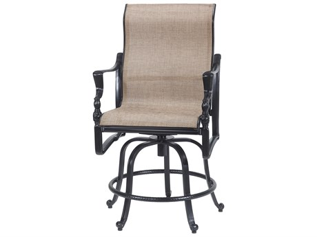 Gensun Bel Air Sling Cast Aluminum Swivel Rocking Balcony Stool