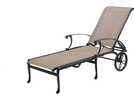 Gensun Michigan Sling Cast Aluminum Chaise Lounge