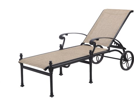 Gensun Florence Sling Cast Aluminum Chaise Lounge