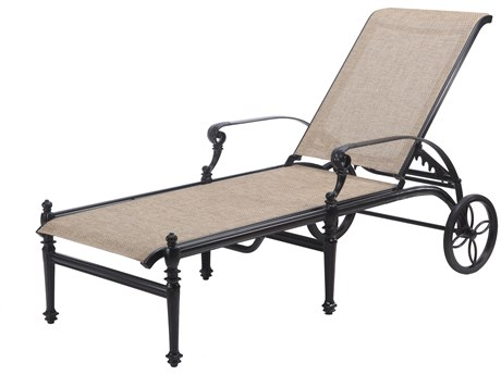 Gensun Grand Terrace Sling Cast Aluminum Chaise Lounge