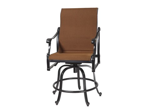GenSun Michigan Padded Sling Cast Aluminum Swivel Rocking Balcony Stool