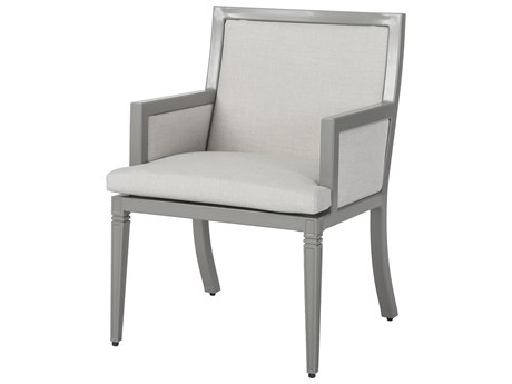 Gensun Drake Upholstered Aluminum Dining Chair
