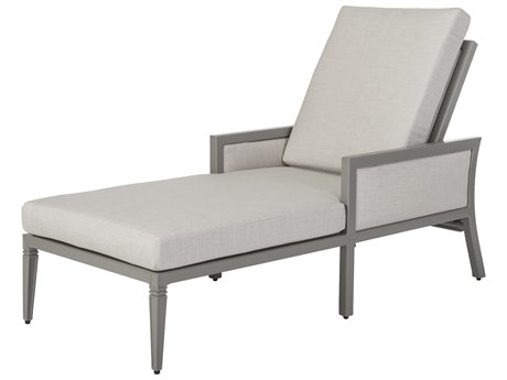 Gensun Drake Upholstered Aluminum Chaise Lounge PatioLiving
