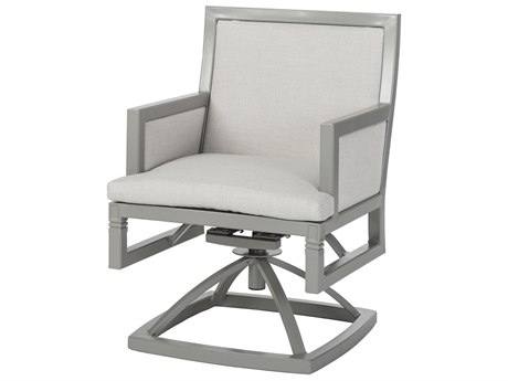 Gensun Drake Upholstered Aluminum Swivel Rocker PatioLiving