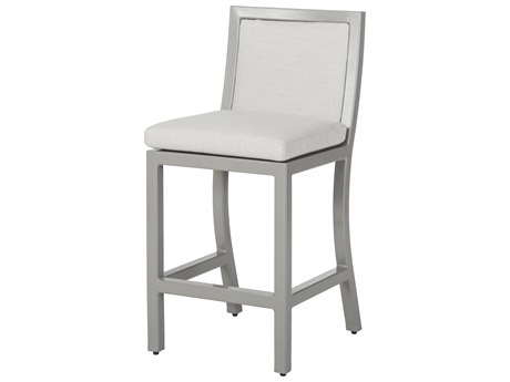 GenSun Drake Upholstered Aluminum Stationary Balcony Stool without Arms