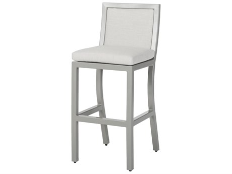 Gensun Drake Upholstered Aluminum Stationary Bar Stool without Arms PatioLiving