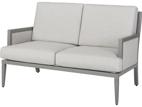 Gensun Drake Upholstered Aluminum Loveseat PatioLiving