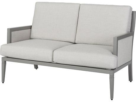 Gensun Drake Upholstered Aluminum Loveseat