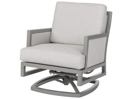 Gensun Drake Upholstered Aluminum Swivel Rocking Lounge Chair PatioLiving