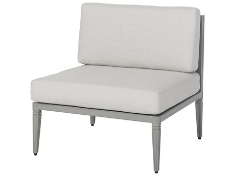 Gensun Drake Upholstered Aluminum Straight Chair PatioLiving