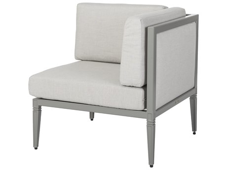 Gensun Drake Upholstered Aluminum Corner/End Chair PatioLiving