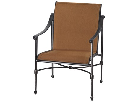 Gensun Morro Bay Padded Sling Cast Aluminum Dining Chair