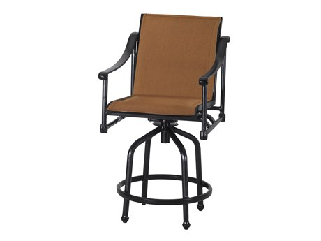 Gensun Morro Bay Padded Sling Cast Aluminum Bar Stool