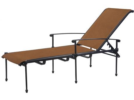 Gensun Morro Bay Padded Sling Cast Aluminum Chaise Lounge