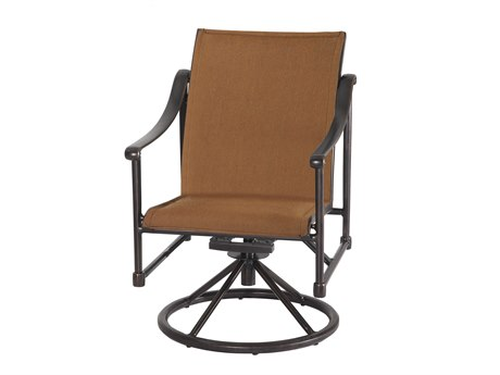 Gensun Morro Bay Padded Sling Cast Aluminum Dining Chair