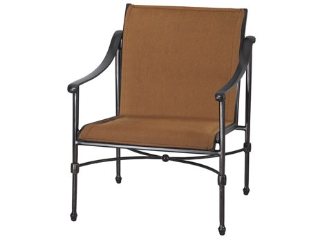 Gensun Morro Bay Padded Sling Cast Aluminum Lounge Chair