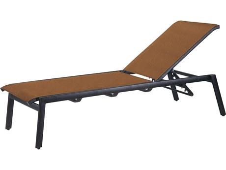 Gensun Echelon Padded Sling Aluminum Chaise Lounge