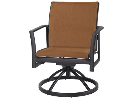 Gensun Echelon Padded Sling Aluminum Dining Chair