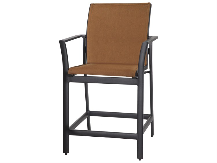 Gensun Echelon Padded Sling Aluminum Counter Stool PatioLiving