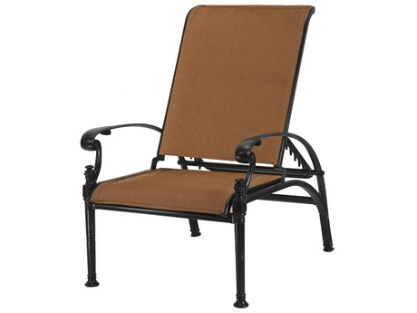 Gensun Michigan Padded Sling Cast Aluminum Reclining Chair