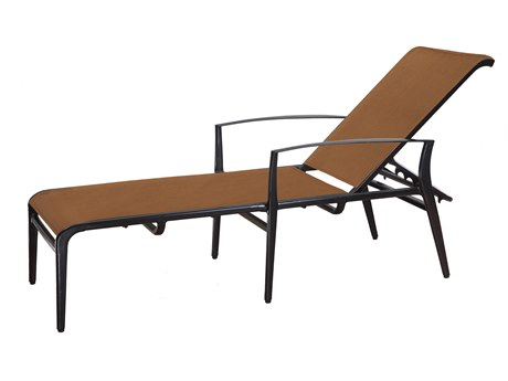 GenSun Phoenix Padded Sling Aluminum Chaise Lounge