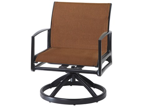 Gensun Phoenix Padded Sling Aluminum Swivel Rocking Lounge Chair