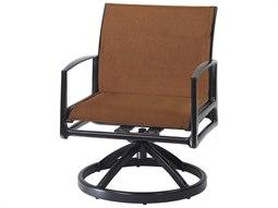 Gensun Phoenix Padded Sling Aluminum Swivel Rocking Lounge Chair