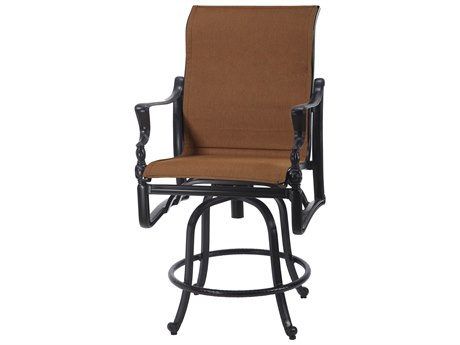 GenSun Bel Air Padded Sling Cast Aluminum Swivel Balcony Stool