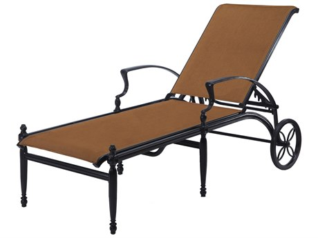 Gensun Bel Air Padded Sling Cast Aluminum Chaise Lounge