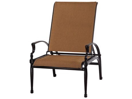 Gensun Bel Air Padded Sling Cast Aluminum Recliner Lounge Chair
