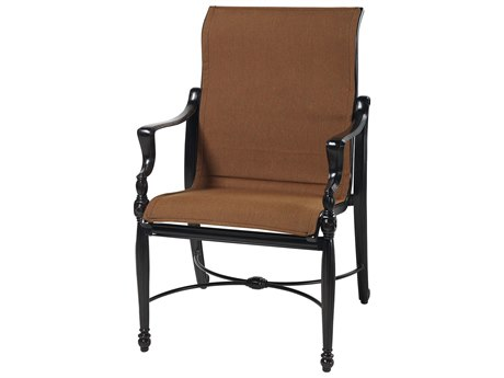 Gensun Bel Air Padded Sling Cast Aluminum High Back Swivel Rocker Lounge Chair