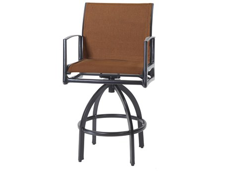 Gensun Phoenix Padded Sling Aluminum Swivel Bar Stool