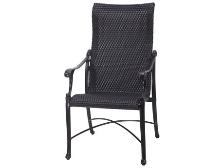 GenSun Michigan Woven Cast Aluminum High Back Dining Chair