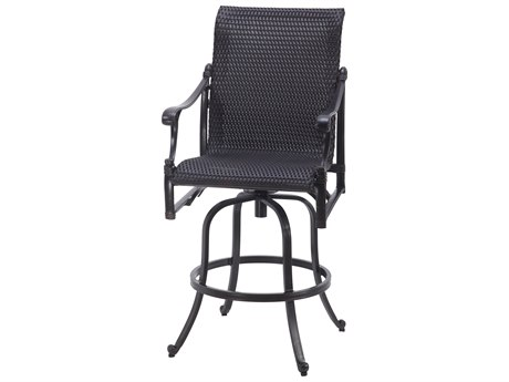 Gensun Michigan Woven Cast Aluminum Swivel Bar Stool