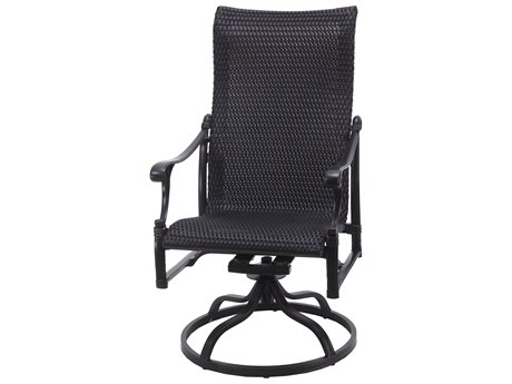 GenSun Michigan Woven Cast Aluminum High Back Swivel Rocker