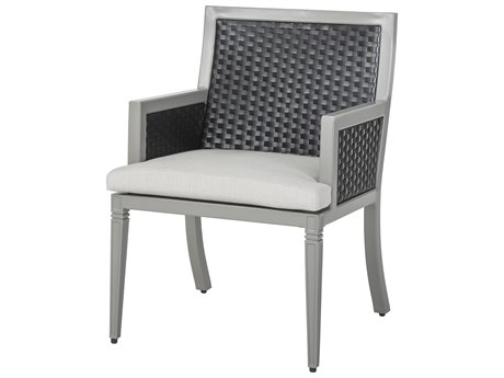 Gensun Drake Woven Cushion Dining Arm Chair PatioLiving