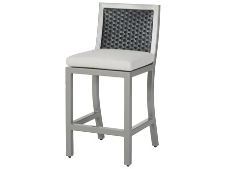 GenSun Drake Woven Cushion Stationary Balcony Stool without Arms