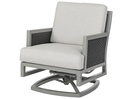 Gensun Drake Woven Cushion Swivel Rocking Lounge Chair PatioLiving