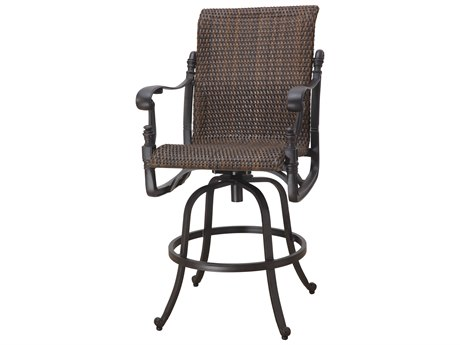 Gensun Florence Woven Cast Aluminum Swivel Bar Stool
